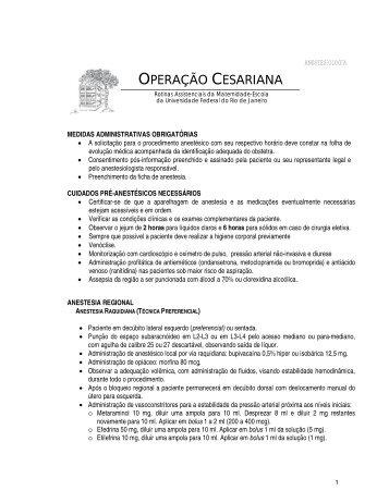 OPERAÇÃO CESARIANA - Maternidade Escola da UFRJ