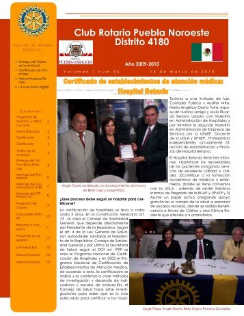 Boletin CR Puebla Noroeste 036 16.mar.10.pub - Rotary Club Sant ...