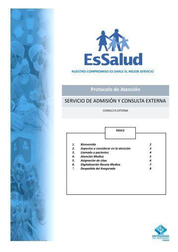 Servicio de Admisión y Consulta Externa - EsSalud
