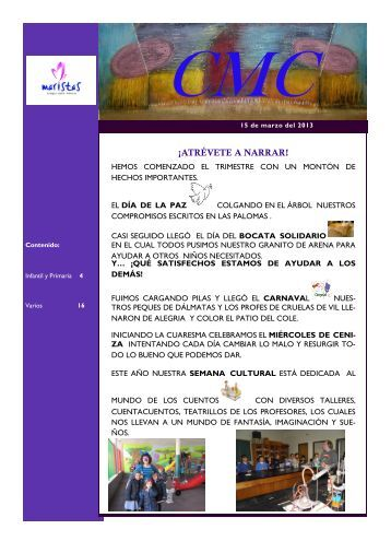¡ATRÉVETE A NARRAR! - Colegio Marista Castilla