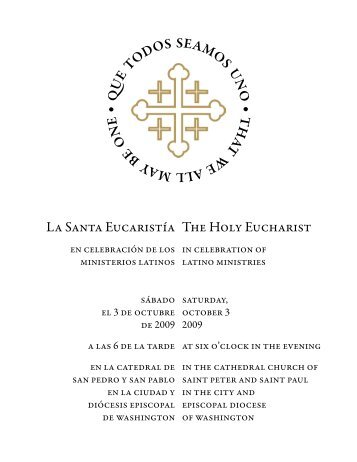for the Holy Eucharist in Celebration of Latino Ministries
