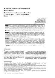 A teoria de orem e o cuidado a paciente renal crônico - Uerj