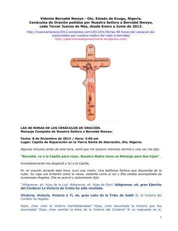 Bernabé Nwoye – Las 48 Horas de los Cenáculos de Oración (2013)