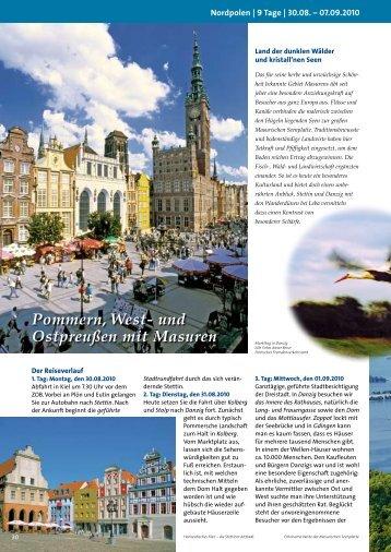 Pommern, West- und Ostpreußen mit Masuren - Russ Reisen