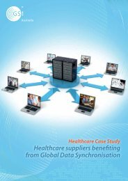 Healthcare suppliers benefiting from Global Data Synchronisation