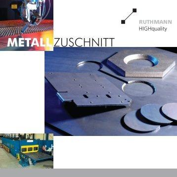 ZUSCHNITT METALL - RUTHMANN