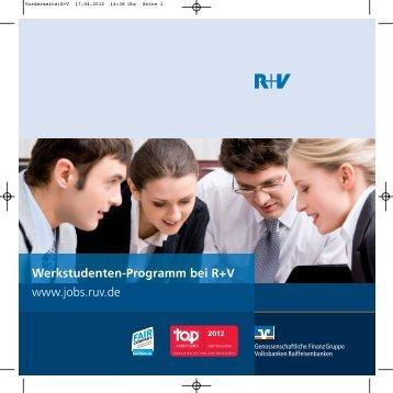 Flyer: Werkstudenten-Programm bei R+V (PDF 1,3 MB)