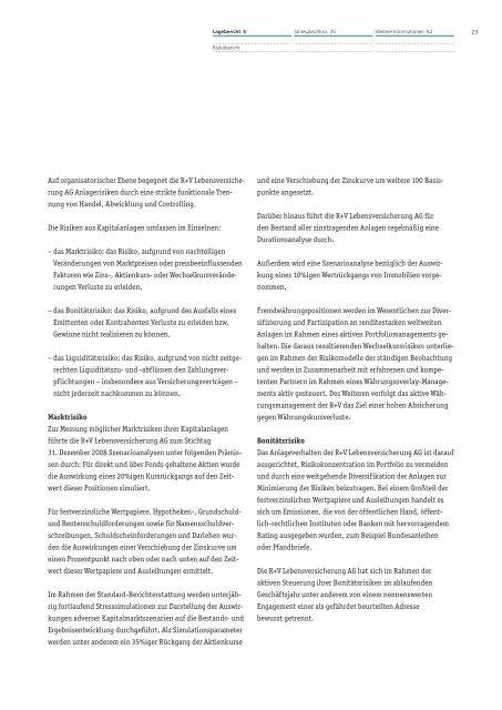R-V Lebensversicherung AG - R+V Versicherung