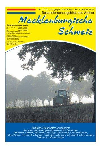 VErlAg + Druck - Amt Mecklenburgische Schweiz