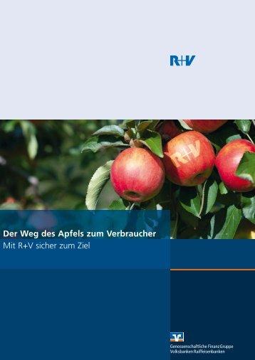 Mit R+V sicher zum Ziel Der Weg des Apfels zum Verbraucher