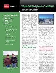 Beneficios Del Riego Por Goteo En Alfalfa: - Toro Media
