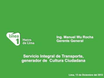 10 -Manuel Wu Linea 1 Metro Lima - AATE