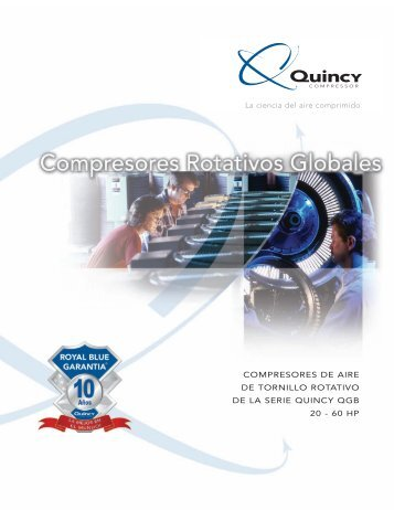 Compresores de aire de tornillo rotativo de la serie quincy qgb 20