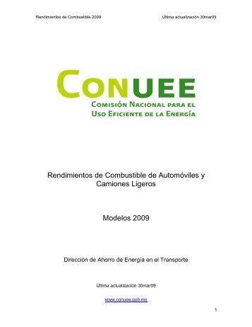Rendimientos de Combustible de Automóviles y Camiones Ligeros ...