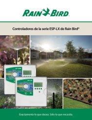 Los controladores de la serie ESP-LX de Rain Bird® hacen que ...