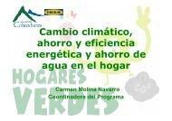 Cambio climatico, ahorro y eficiencia energetica y ahorro de agua ...