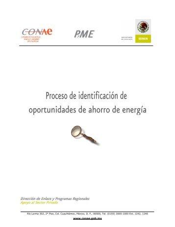 Proceso de identificación de oportunidades de ahorro de energía