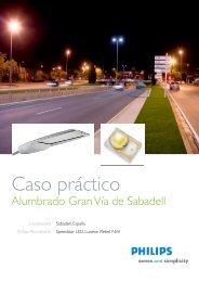 Caso Práctico Gran Vía de Sabadell - Philips Lighting