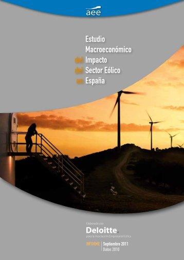Estudio Macroeconómico del Impacto del Sector Eólico en España