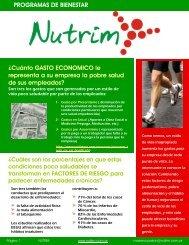 PROGRAMAS DE BIENESTAR ¿Cuánto GASTO ... - NUTRIM