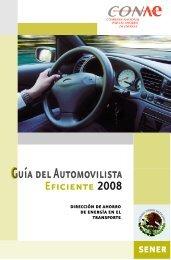 Guía del Automovilista Eficiente 2008 - Comisión Nacional para el ...