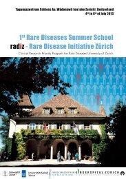 1 Rare Diseases Summer School radiz - Rare Disease Initiative Zürich
