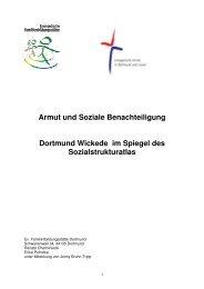 Armut und Soziale Benachteiligung Dortmund Wickede im Spiegel des