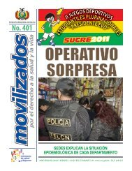 No. 401 - Ministerio de Salud y Deportes de Bolivia