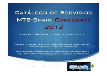 Catálogo Servicios Mtb Spain Corporate 2012.pptx