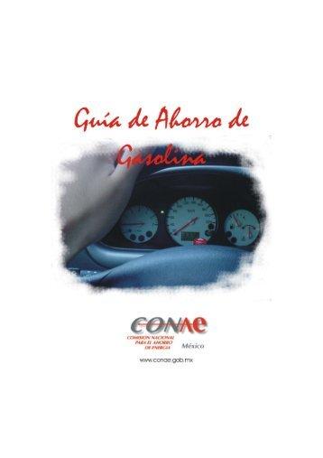 Guia Ahorro Gasolina - Comisión Nacional para el Ahorro de Energía