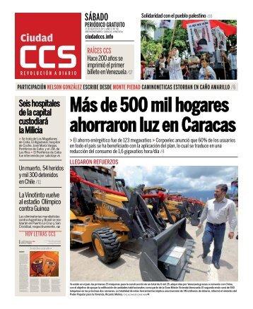 Más de 500 mil hogares ahorraron luz en Caracas - Ciudad CCS