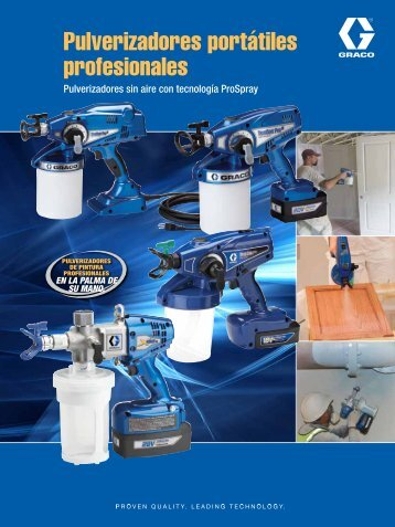 Professional Handheld Sprayers Brochure Spanish - Graco Inc.