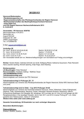 Ich will reiten lernen reiterverein aschaffenburg und for Seydlitz hannover