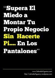 """""""Supera El Miedo a Montar Tu Propio Negocio Sin Hacerte Pi.... En ..."""