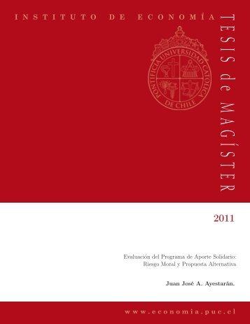Evaluación del programa de aporte solidario - Instituto de Economía
