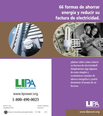 66 formas de ahorrar electricidad - Long Island Power Authority