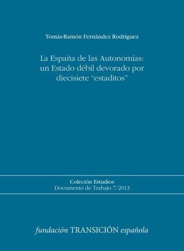 La España de las Autonomías - Fundación Transición Española