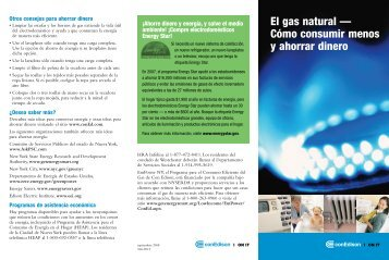 El gas natural — Cómo consumir menos y ahorrar dinero - Con Edison
