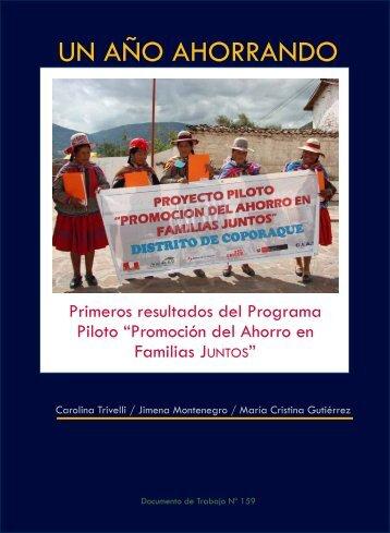 Un año ahorrando - Instituto de Estudios Peruanos