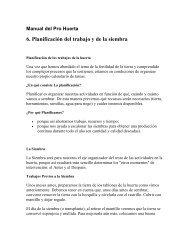 6. Planificación del trabajo y de la siembra