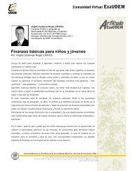 Finanzas básicas para niños y jóvenes - Universidad de Monterrey