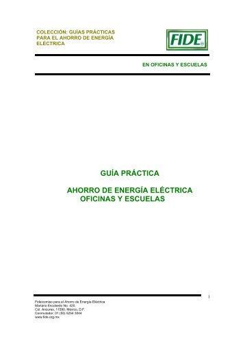 guía práctica ahorro de energía eléctrica oficinas y escuelas - ITSUR
