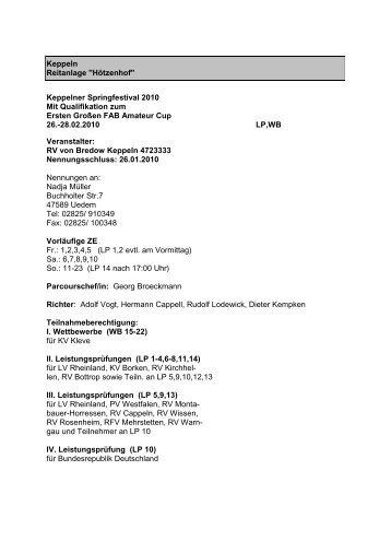 Ausschreibung - Rv-keppeln.de