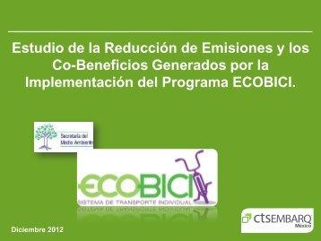 Reporte de reducción de emisiones - Ecobici