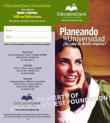 EDQ: Aviador de Planificación de Colegio (PDF)