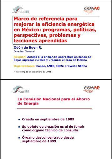 Marco de referencia para mejorar la eficiencia energética en México ...