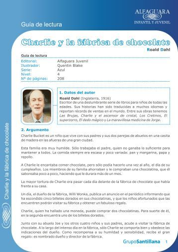 CHARLIE Y LA FABRICA DE CHOCOLATE.cdr - Lectores en Red