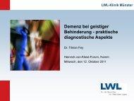 Demenz bei geistiger Behinderung - Alzheimer Gesellschaft im ...
