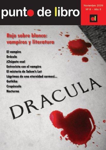 ol Rojo sobre blanco: vampiros y literatura - Punto de libro