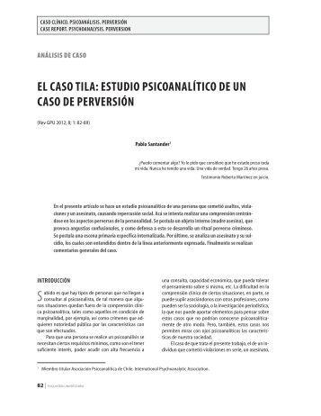 El caso Tila: EsTudio psicoanalíTico dE un caso dE ... - Revista GPU